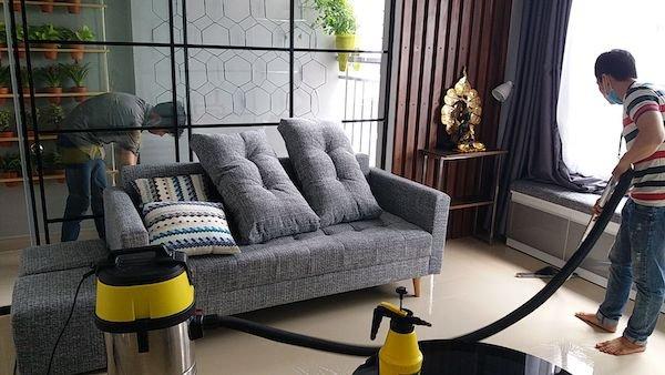 Nhận giặt ghế sofa tại nhà Hà Nội giá rẻ
